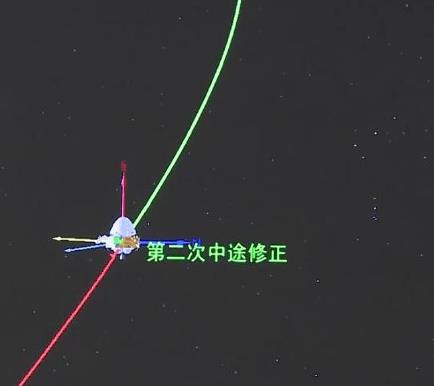 天问一号完成第二次轨道中途修正 目前飞行里程约1.6亿千米