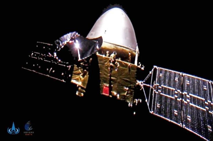 天问一号首次深空自拍:飞行状态良好 距地球2410万千米