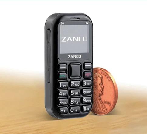 世界最小3G手机Tiny T2发售:可进行游戏 电池容量为500mAh