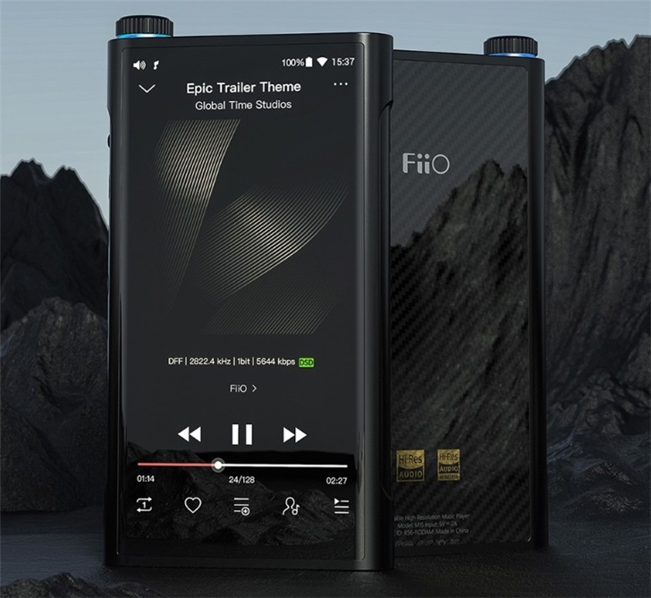 飞傲发布M15无损音乐播放器:内置7490mAh电池 售价8998元