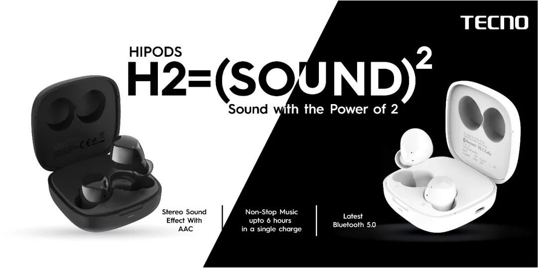 传音在印度发布HiPods H2真无线蓝牙耳机:待机时间约30小时 售价186元