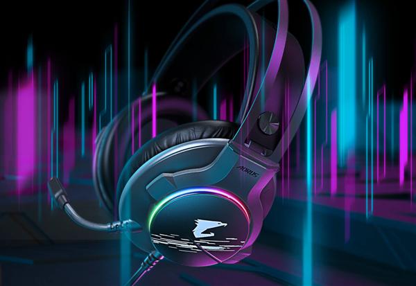 技嘉发布AORUS H1电竞耳机 内建ENC环境降噪功能