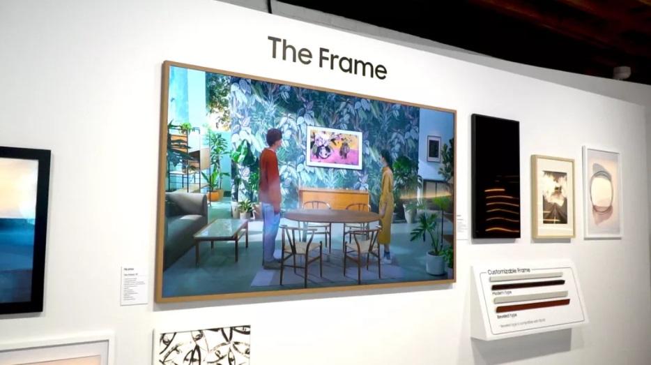 三星发布2021款The Frame画框电视:拥有4K分辨率 厚度仅24.9毫米