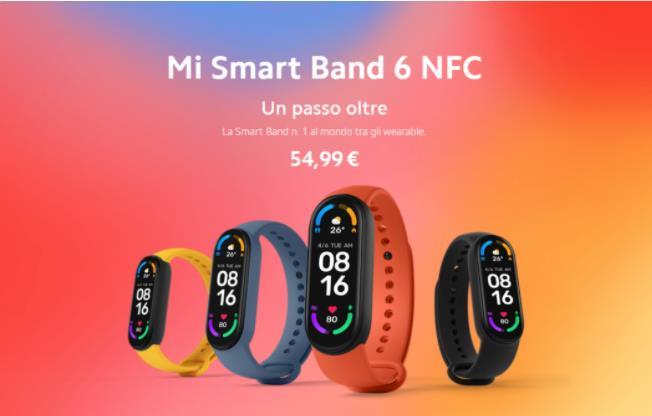 仅在意大利销售 小米手环6 NFC版今日在欧洲正式发布