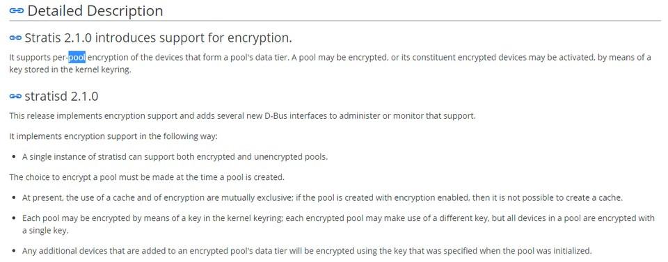Fedora 33确认引入Stratis 2.1 新增功能支持per-pool加密