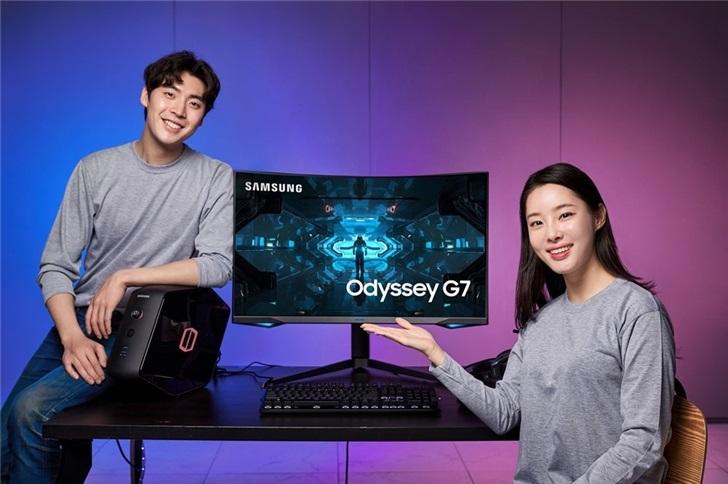 4652元起 三星推出Odyssey G7电竞显示器:业内首款1000R曲面电竞显示器